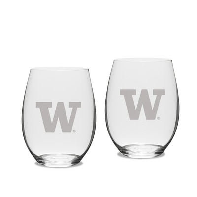 Washington Huskies Riedel Set Red Stem