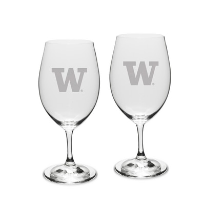 Washington Huskies Riedel Set Red Wine