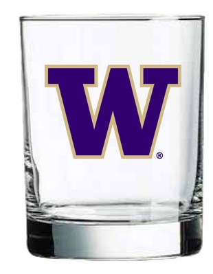 Washington Huskies 14oz Rocks Glass