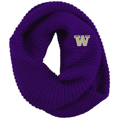 Washington Huskies LogoFit Piper Ribbed Knit Infinity Winter Scarf