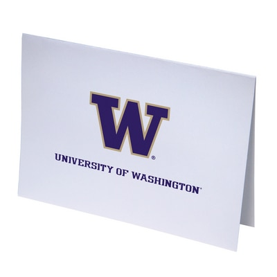 Washington Huskies Set of 10 Raised Ink Note Cards
