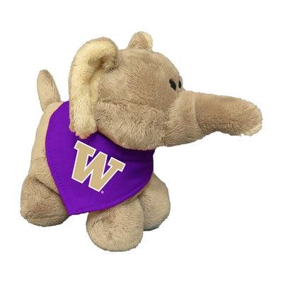 Washington Huskies 6in Plush Elephant Short Stack with Bandana