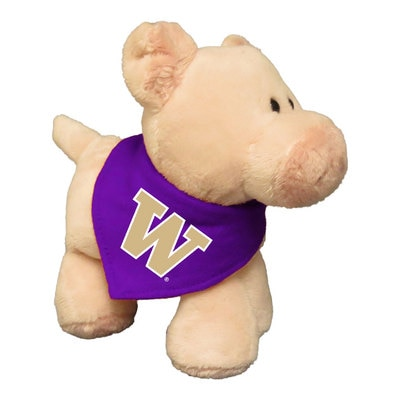 Washington Huskies 6in Plush Pig Short Stack with Bandana