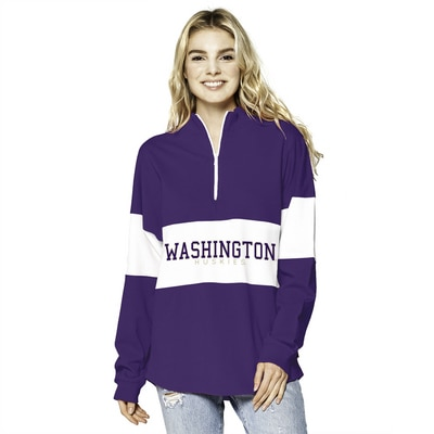 Washington Huskies Colorblock 1/2 Zip