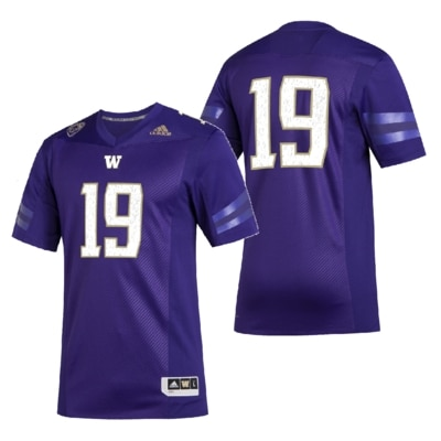 Washington Huskies Adidas Men's Premier Strategy Football Jersey