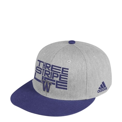 Washington Huskies Adidas Men's Flat Brim Snapback