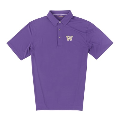 Washington Huskies Ecotec Solid Polo