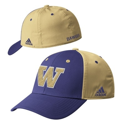 Washington Huskies Adidas Men's Coach Slouch Flex