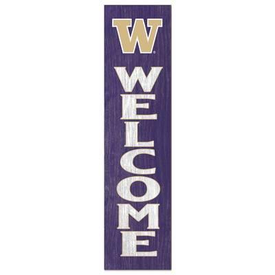 "Washington Huskies Leaning ""Welcome"" Sign"