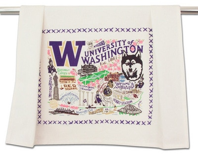 Washington Huskies Cat Studio 20x29 inch Cotton Hand Towel