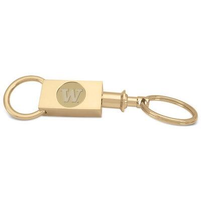 Washington Huskies Gold Two Section Key Ring