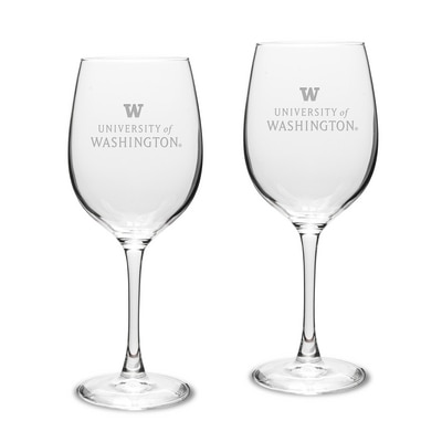 Washington Huskies White Wine Glass 2pk