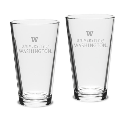 Washington Huskies 2pk Pub Glass