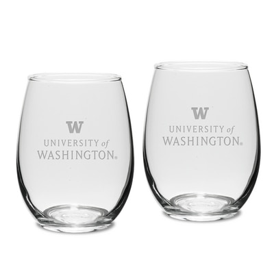 Washington Huskies Stemless Wine Glass 2pk