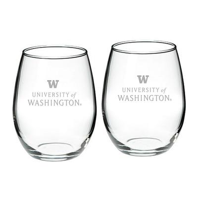 Washington Huskies Stemless Wine Glass 2-Pack
