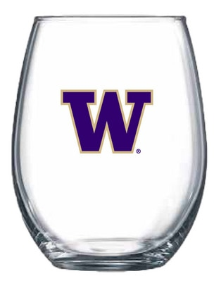 Washington Huskies 15oz Stemless Wine Glass
