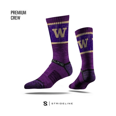 Washington Huskies Strideline Crew Socks