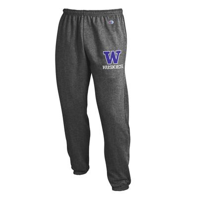 Washington Huskies Champion Powerblend Banded Bottom Pant