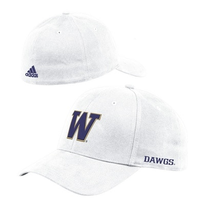 Washington Huskies Adidas Men's Coach Structured Flex