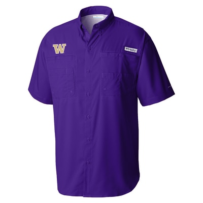 Washington Huskies Columbia Men's Tamiami Short Sleeve Shirt