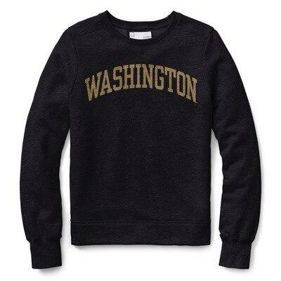 Washington Huskies Womens Classic Crew Neck Sweatshirt