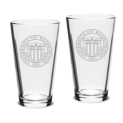 Washington Huskies Set of 2 Pint Glass