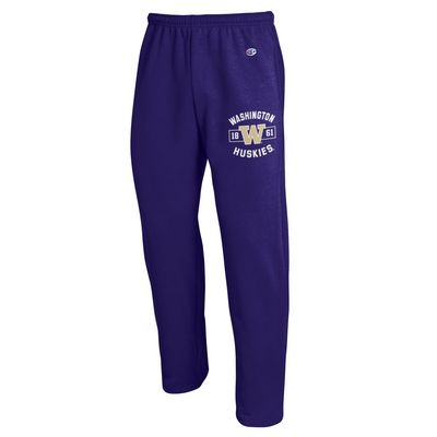 Washington Huskies Champion Powerblend Open Bottom Pant