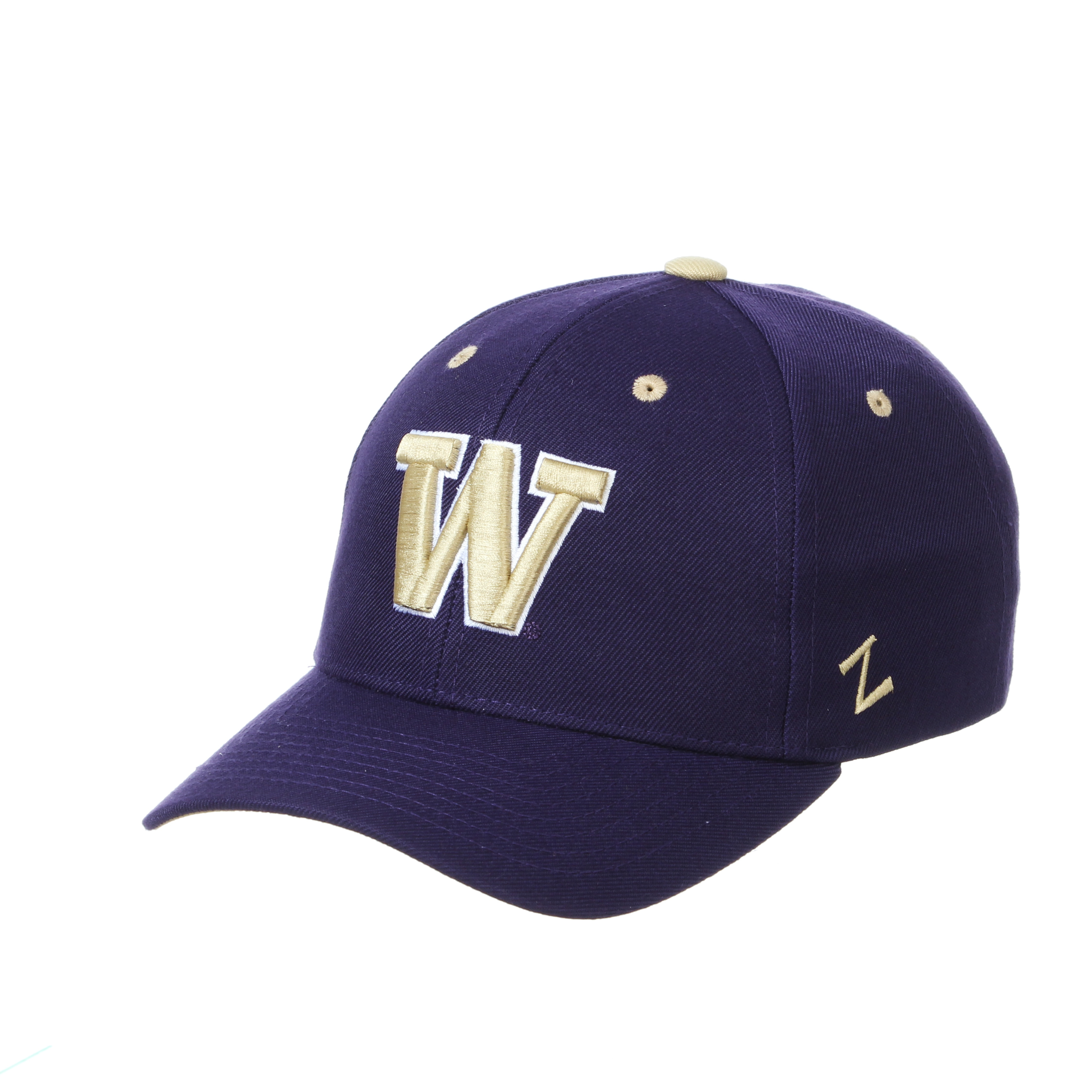 Washington Huskies Zephyr Youth Competitor Structured Curved Bill Adjustable Cap Hat