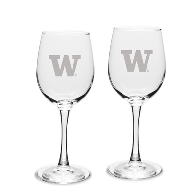 Washington Huskies White Wine Glass