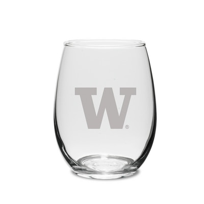 Washington Huskies Stemless Wine Glass