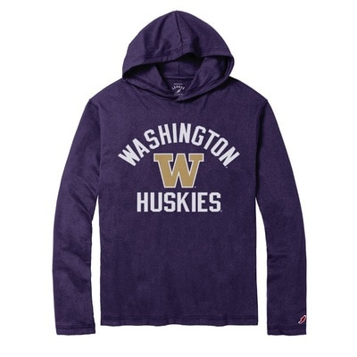 Washington Huskies League All American Ringspun Long Sleeve Hooded T-Shirt