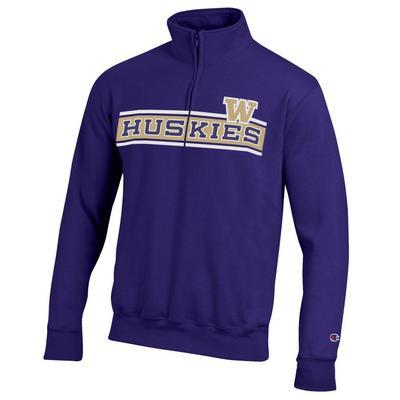 Washington Huskies Champion Powerblend Quarter-Zip Pullover