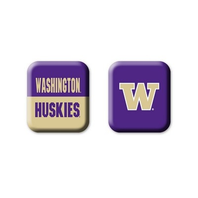 Washington Huskies 2pk Square Magnet