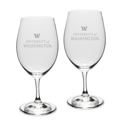 Washington Huskies Riedel Wine Glass 2pk