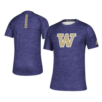 Washington Huskies Adidas Men's Game Mode Training T Shirt
