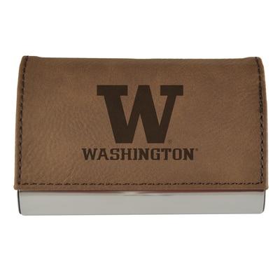 Washington Huskies Velour Accented Business Card Holder