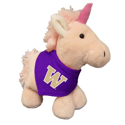Washington Huskies 6in Plush Unicorn Short Stack with Bandana