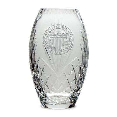 Washington Huskies Crystal Vase