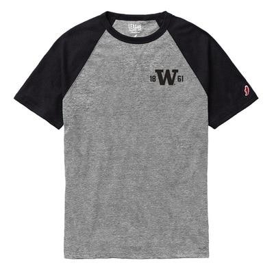 Washington Huskies League Victory Falls Triblend Short Sleeve Baseball T-Shirt