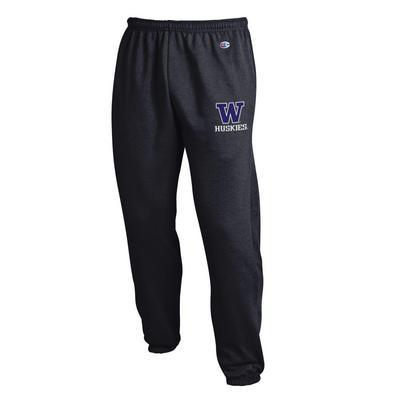 Washington Huskies Champion Powerblend Banded Bottom Pant