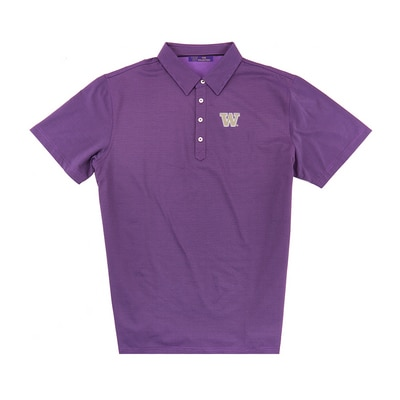 Washington Huskies Luxtec Stripe Polo