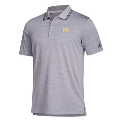 Washington Huskies Adidas Men's Ultimate Textured Stripe Polo