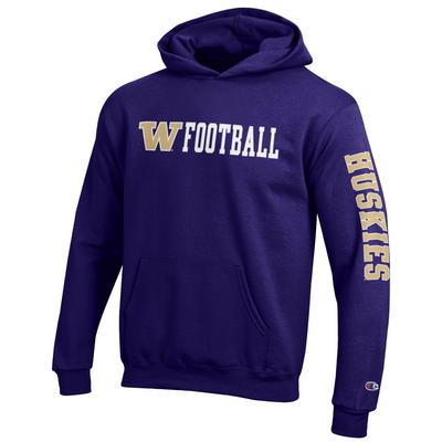 Washington Huskies Youth Eco Powerblend Hood