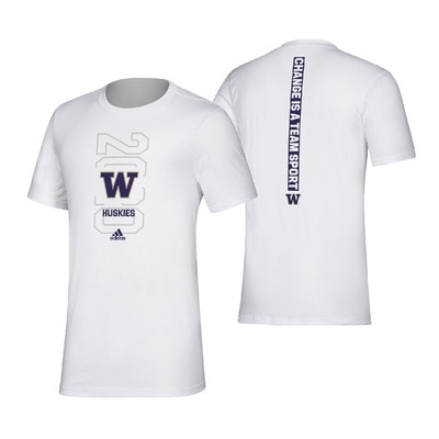 Washington Huskies Adidas Men's Amplifier Short Sleeve T Shirt