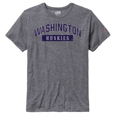 Washington Huskies League Victory Falls Triblend Short Sleeve T-Shirt
