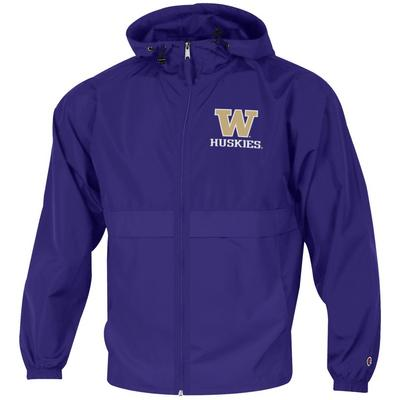 Washington Huskies Champion Full-Zip Packable Jacket