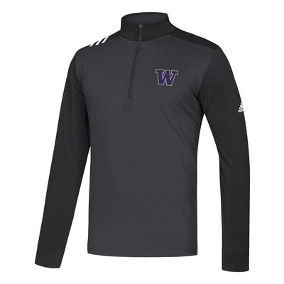 Adidas Men's 3 Stripe Half Zip
