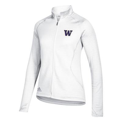 Washington Huskies Adidas Women's Essential Textured Full Zip