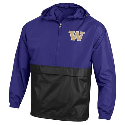Washington Huskies Champion Half-Zip Packable Colorblock Jacket