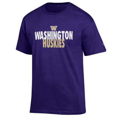 Washington Huskies Champion 100% Cotton T-Shirt